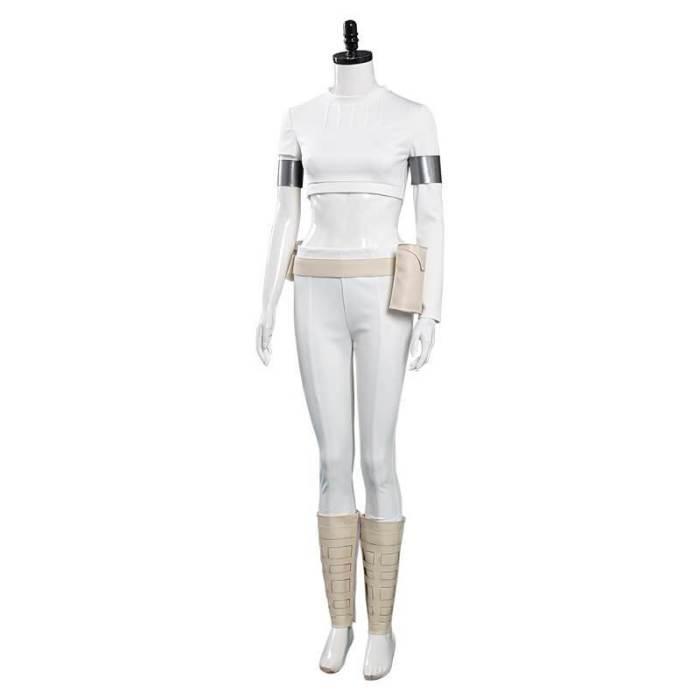 Padme Amidala Cosplay Costume White Top Pants Suits Halloween Costumes
