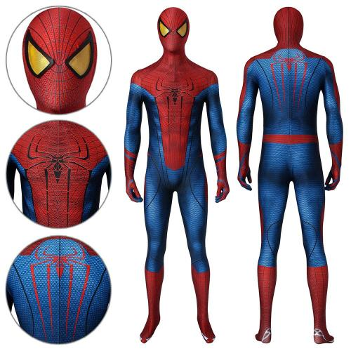 Spider-Man Peter Parker The Amazing Spider-Man Jumpsuit Cosplay Costume -