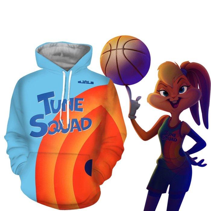 Space Jam: A  Legacy Cosplay Costume Hoodie Pants 3D Printed Hooded Coat Polyester Sportswear Shirt