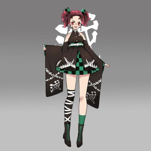 Pre-Sale Kamado Tanjiro Demon Slayer Halloween Kimono Original Design Cosplay Costume