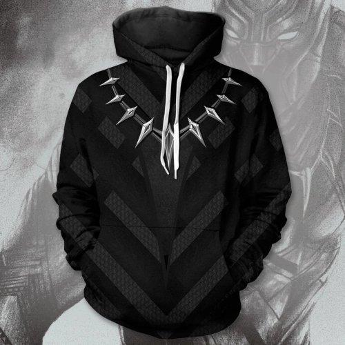 Avengers Movie T Challa Black Panther 1 Cosplay Unisex 3D Printed Hoodie Sweatshirt Pullover
