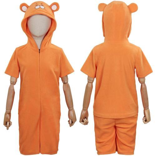 Himouto! Umaru-Chan Children Short Sleeve Cute Cartoon Hooded Jumpsuit Pajamas Cosplay Costume