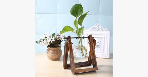 Glass Hydroponics Table Planter Stand