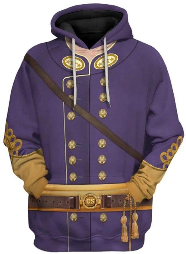 Nathan Bedford Forrest Historical Figure Unisex 3D Printed Hoodie Pullover Sweatshirt
