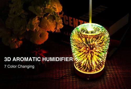 Night Light Mist Ultrasonic Sprayer Aromatherapy Air Humidifier