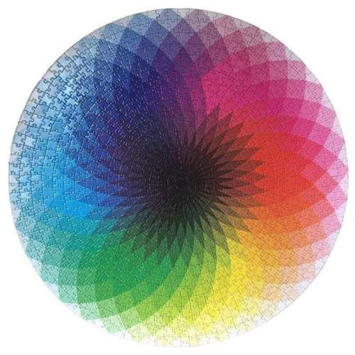 Large -Piece Rainbow Round Puzzle For Kids & Adults