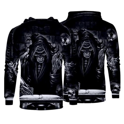 Men Hoodies Top Pullover Sweatshirt Hoodies Print Men Picture Clothing