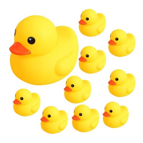 Bath Toy Swimming Water Duck Cute Soft Rubber Float Ducks Squeeze Sound Play Game Fun Bath Toys Gifts For Children Kids Baby