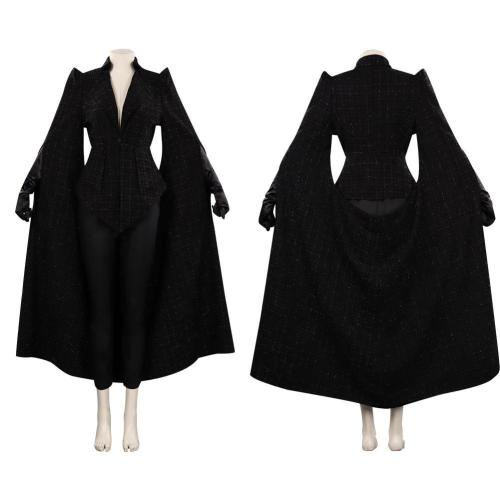Cruella Black Coat Outfits Halloween Carnival Suit Cosplay Costume