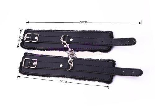 Black Fur Lined Cuffs