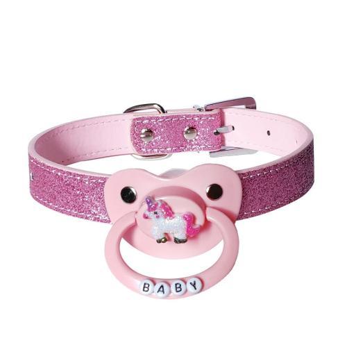 Pink Glitter Pacifier Gag