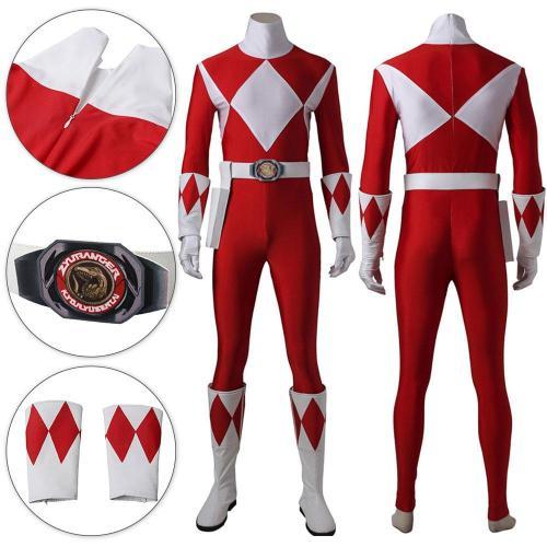 Mighty Morphin Power Rangers Red Ranger Cosplay Costume