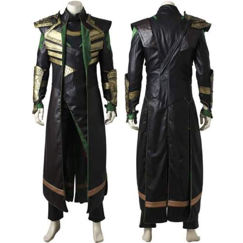 Loki Leather Uniform Cosplay Costumes Dress Up Full Outfit Props