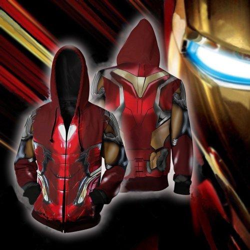 Avengers Movie Iron Man Style 5 Cosplay Unisex 3D Printed Hoodie Sweatshirt Jacket With Zipper