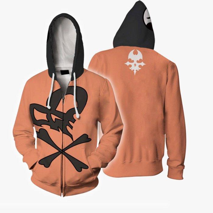 The World Ends With You Game Orange Bitou Raimu Cosplay Unisex 3D Printed Hoodie Sweatshirt Jacket With Zipper