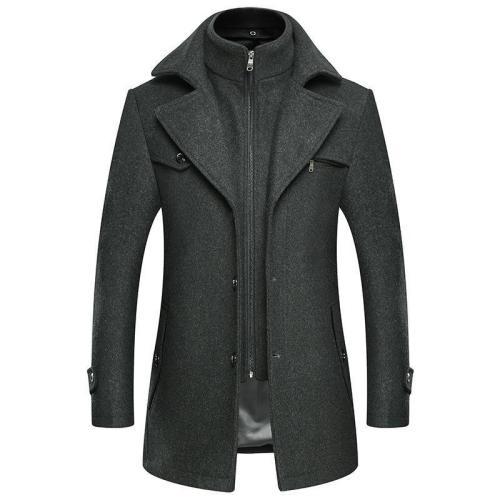 Men'S Slim Casual Wooled Jacket