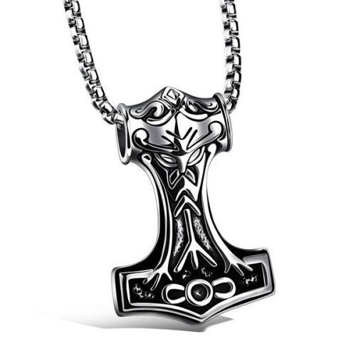 Thor Mjölnir Steel Necklace