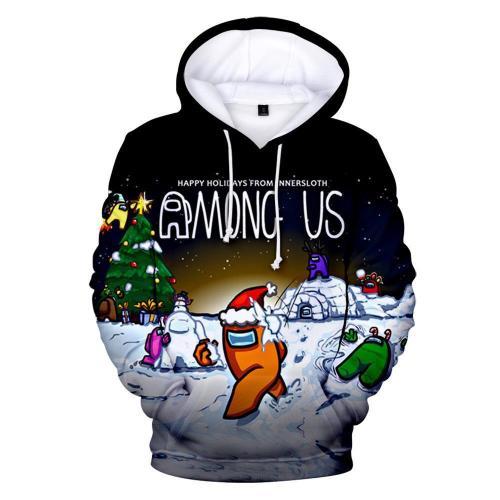 Adult Style-07 Impostor Crewmate Among Us Cartoon Game Unisex 3D Printed Hoodie Pullover Sweatshirt