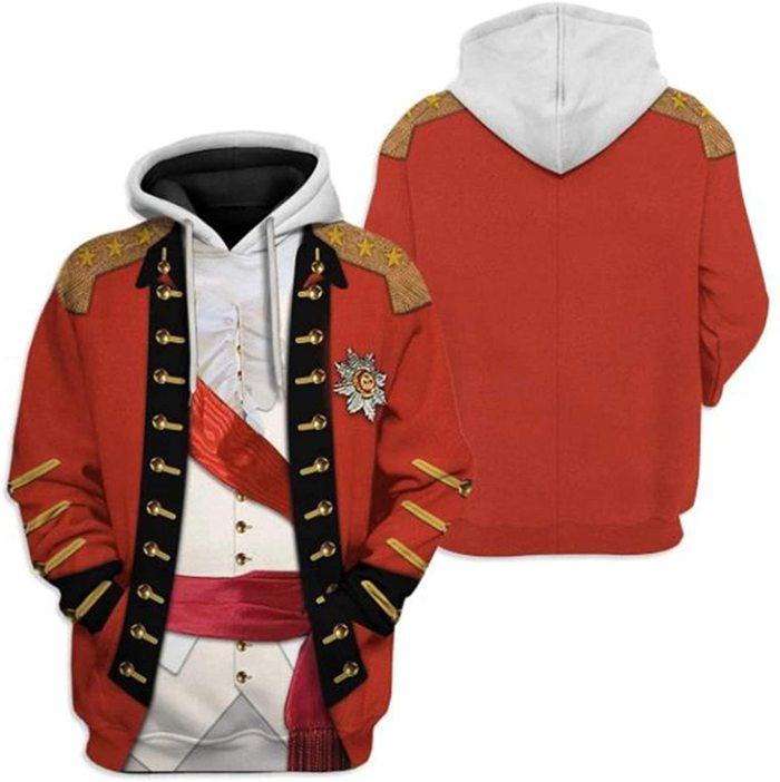 Henry Clinton Historical Figure Unisex 3D Printed Hoodie Pullover Sweatshirt