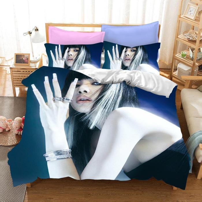 Blackpink Lisa Cosplay Bedding Set Duvet Cover Pillowcases Halloween Home Decor