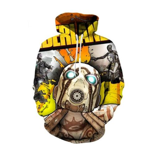 Yellow Borderlands Jello Game Unisex 3D Printed Hoodie Pullover Sweatshirt