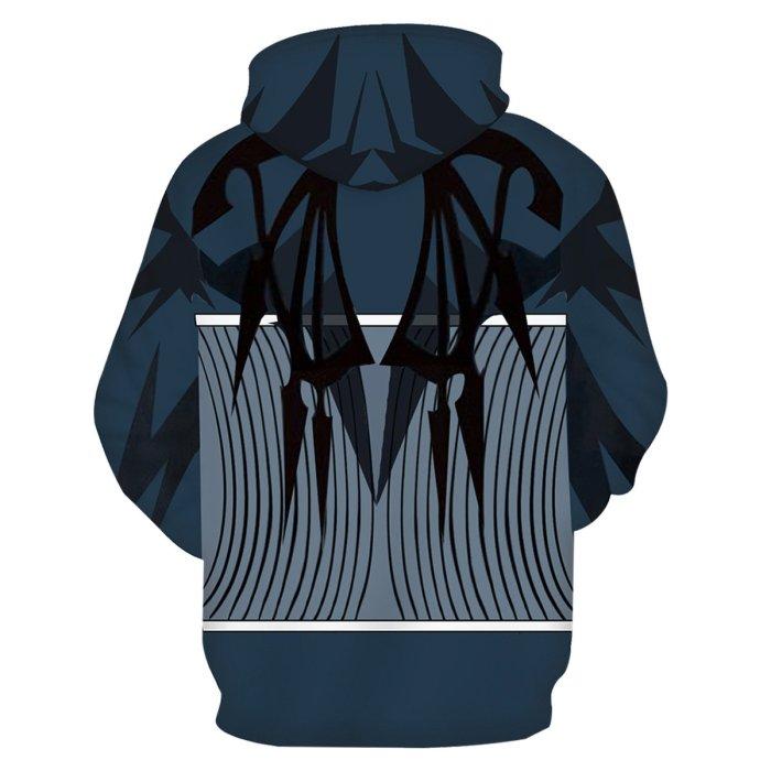 The World Ends With You Game Sakuraba Neku Blue Cosplay Unisex 3D Printed Hoodie Sweatshirt Pullover