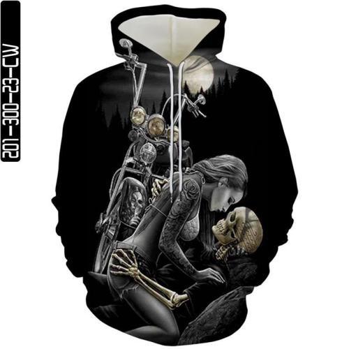 Woman With Skull Man Head Movie Cosplay Unisex 3D Printed Hoodie Sweatshirt Pullover