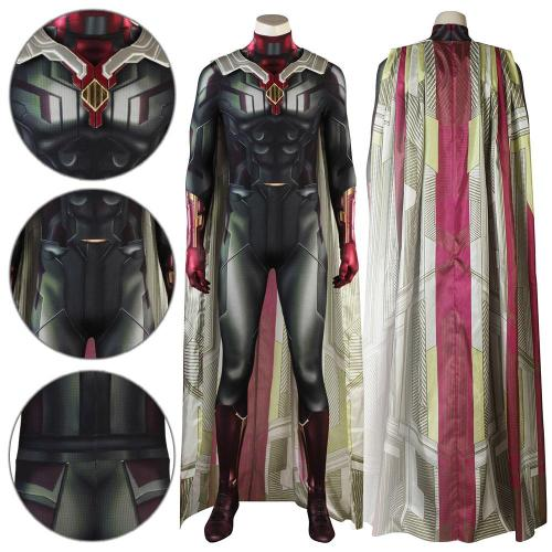 Vision Avengers 2 : Infinity War Jumpsuit Cosplay Costume -