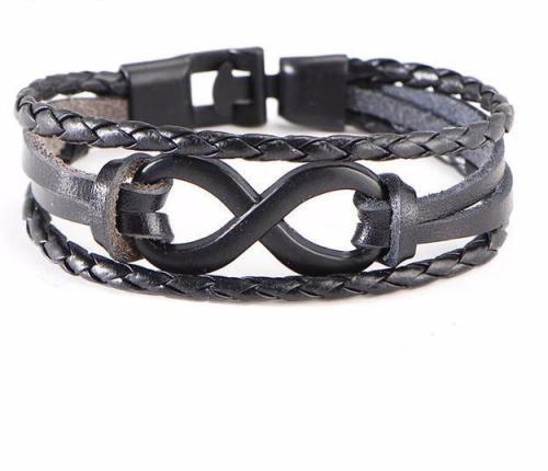 Tie Of Infinity Leather Bracelet
