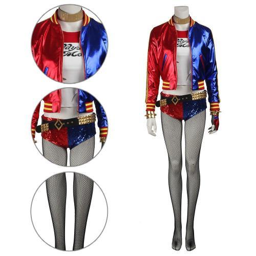 Harley Quinn Detective Comics Batman Suicide Squad Task Force X Cosplay Costume