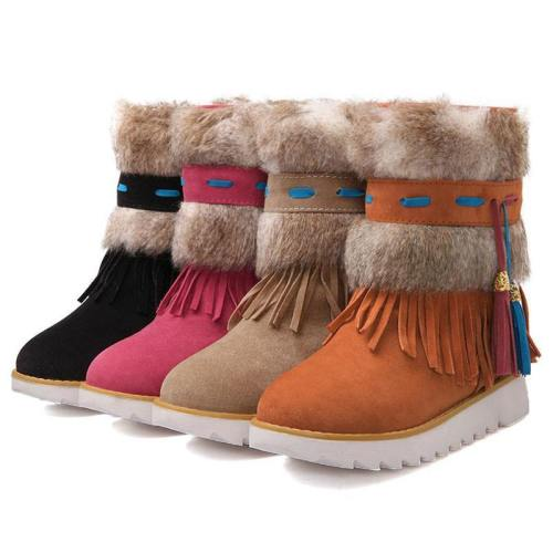 Beaded Suede Winter Boots