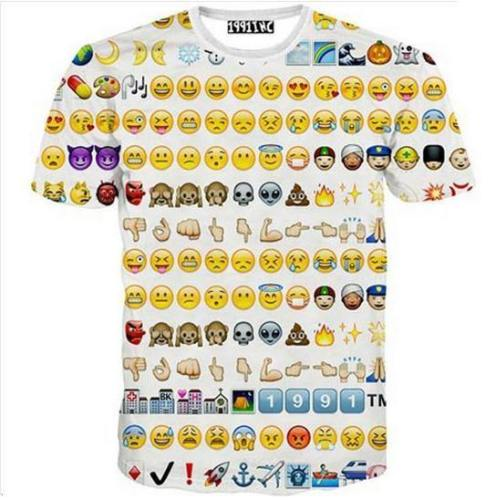 Hipster Emoticons 3D T-Shirt V3