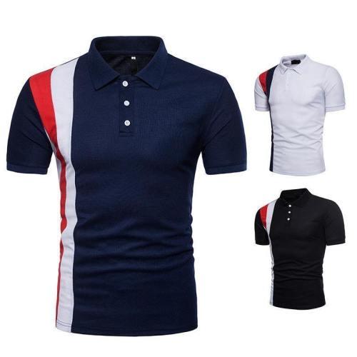 Men'S Casual Fashion Breathable Multicolor Polo Shirt C