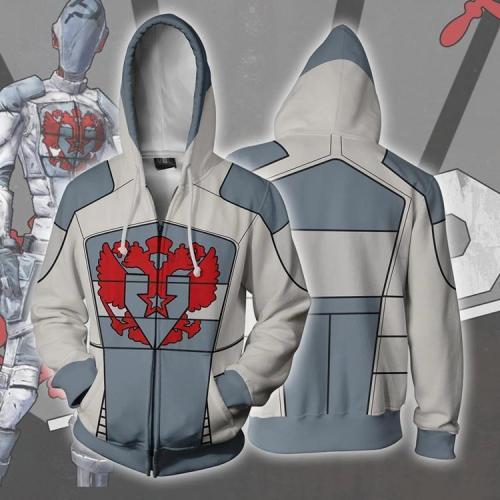 Borderlands Game Jello Unisex 3D Printed Hoodie Sweatshirt Jacket With Zipper