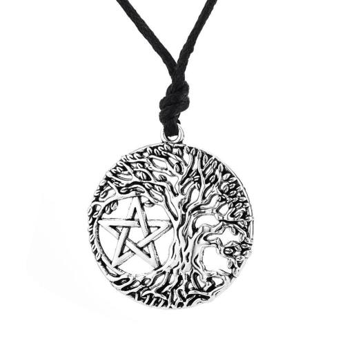 Yggdrasil Pentagram Necklace