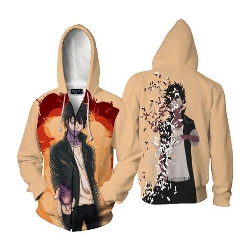 My Hero Academia Anime Yellow Dabi Cosplay Unisex 3D Printed Mha Hoodie Sweatshirt Jacket With Zipper