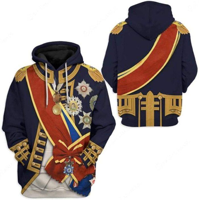 Horatio Nelson Historical Figure Unisex 3D Printed Hoodie Pullover Sweatshirt
