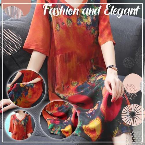 Luxury Genuine Silk Soft Dress