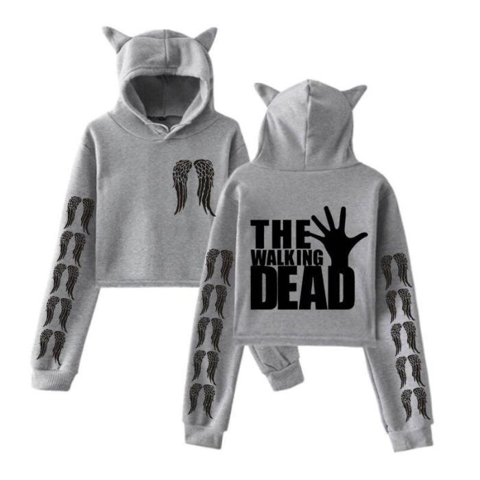 The Walking Dead Tv Aesthetics Hooded Cropped Sweatshirts Hoodies