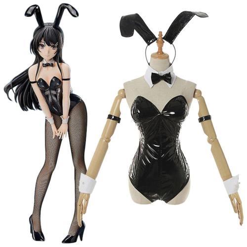 Rascal Does Not Dream Of Bunny Girl Senpai-Sakurajima Mai Bunny Girl Jumpsuit Outfits Halloween Carnival Suit Cosplay Costume