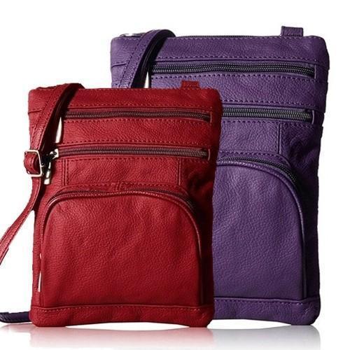 Super Soft Leather Crossbody Bag - 2 Size Options