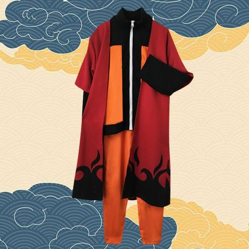 Uzumaki Naruto Sennin Moodo From Naruto Halloween Cosplay Costume