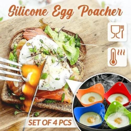Easy Silicone Egg Poacher (Set Of 4)