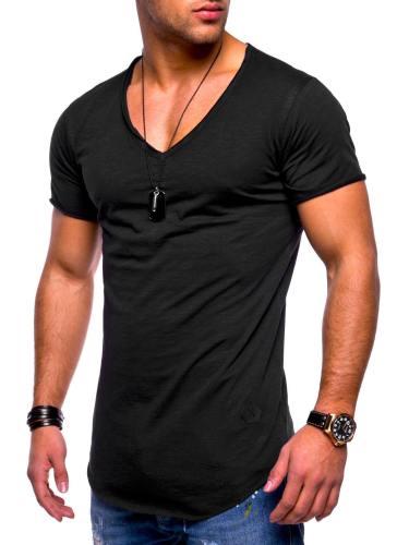 Men'S Casual Breathable V-Neck Fashion T-Shirt