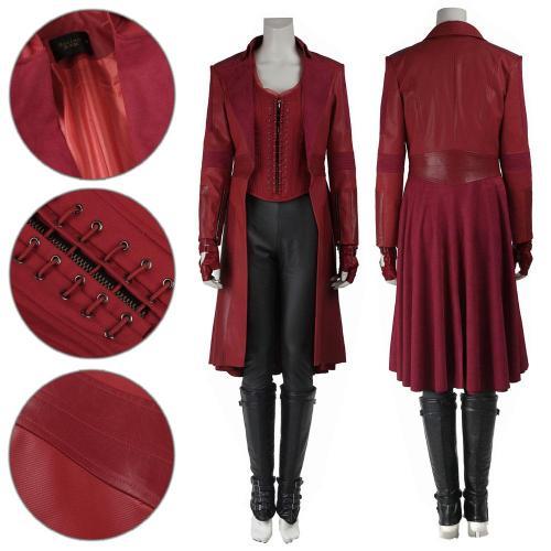 Scarlet Witch Wanda Maximoff Captain America Civil War Cosplay Costume