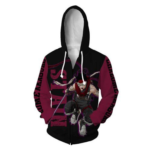 My Hero Academy Anime Himiko Toga Stain Unisex 3D Printed Hoodie Sweatshirt Jacket With Zipper