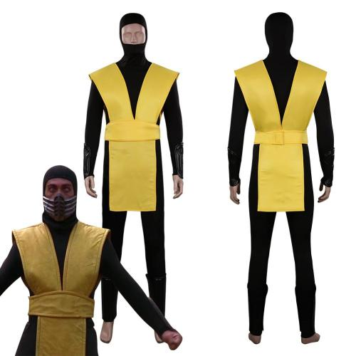 Mortal Kombat Scorpion Outfits Halloween Carnival Suit Cosplay Costume