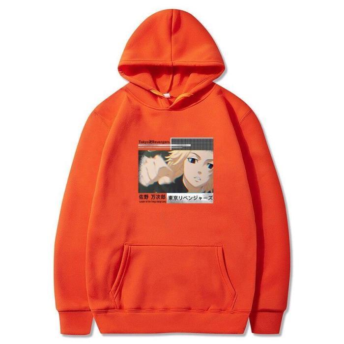 Tokyo Revengers Anime Harajuku Hoodie Japanese Unisex Pullover Oversize Sweatshirts Manjirou Print Hip Hop