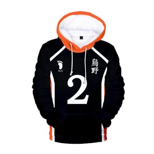 Volleyball Junior Haikyu Anime Hinata Shoyo Sweatshirt 3D Print Pullovers Hoodie