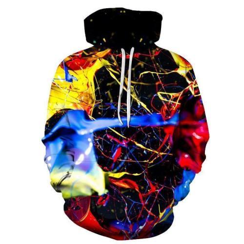 Paint Splatter 3D Sweatshirt Hoodie Pullover